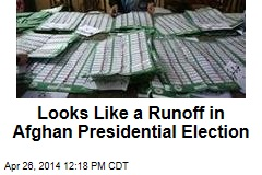 Looks Like a Runoff in Afghan Presidential Election