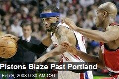 Pistons Blaze Past Portland