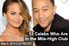 13 Celebs Who Are in the Mile-High Club