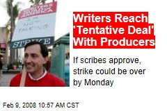 Writers Reach 'Tentative Deal' With Producers