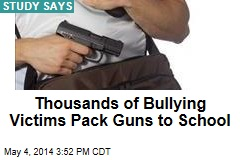 Bullying Victims Pack Thousands of Guns at School