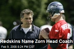 Redskins Name Zorn Head Coach