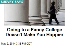 Going to a Fancy College Doesn't Make You Happier