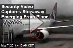 Security Video Captures Stowaway Emerging From Plane