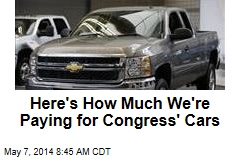 Congress Quietly Hugs Taxpayer-Funded Cars Close