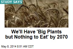 We'll Have 'Big Plants but Nothing to Eat' by 2070