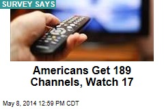 Americans Get 189 Channels, Watch 17