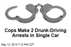Cops Make 2 Drunk-Driving Arrests in Single Car