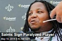 Saints Sign Paralyzed Player