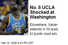 No. 5 UCLA Shocked at Washington