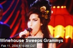 Winehouse Sweeps Grammys