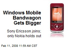 Windows Mobile Bandwagon Gets Bigger