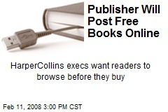 Publisher Will Post Free Books Online