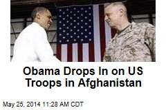 Obama Drops In on US Troops in Afghanistan