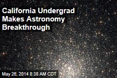 California Undergrad Makes Astronomy Breakthrough