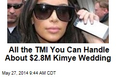 All the TMI You Can Handle About $2.8M Kimye Wedding
