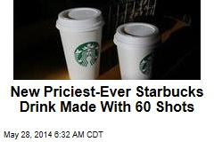 New Priciest-Ever Starbucks Drink Made With 60 Shots