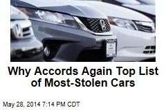 Why Accords Again Top List of Most-Stolen Cars