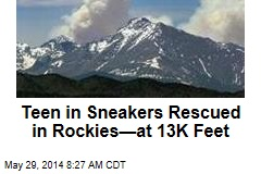 Rookie Stuck in Rockies Rescued at 13K Feet