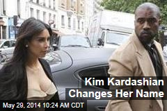 Kim Kardashian Changes Her Name
