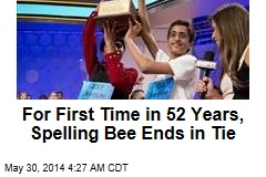 For First Time in 52 Years, Spelling Bee Ends in Tie