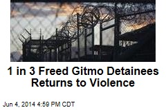 1 in 3 Freed Gitmo Detainees Returns to Violence