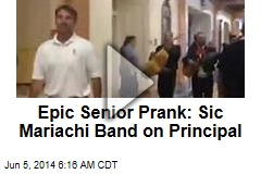 Epic Senior Prank: Sic Mariachi Band on Principal