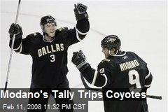 Modano's Tally Trips Coyotes