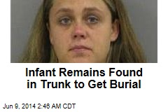 Infant Remains Found in Trunk to Get Burial