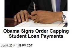 Obama Signs Order Capping Student Loan Payments