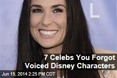 7 Celebs You Forgot Voiced Disney Characters