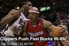 Clippers Push Past Bucks 96-89