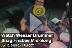 Watch Weezer Drummer Snag Frisbee Mid-Song