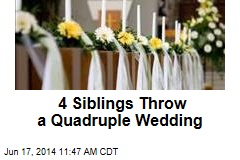4 Siblings Throw a Quadruple Wedding