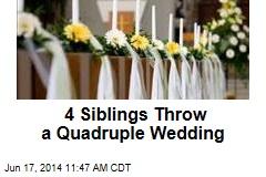 4 Siblings Throw a Quadruple Wedding