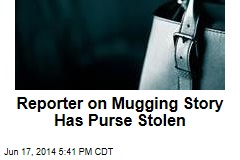 Reporter on Mugging Story Has Purse Stolen