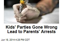 Kids' Parties Gone Wrong Lead to Parents' Arrests