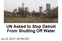 UN Asked to Stop Detroit From Shutting Off Water