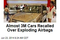Almost 3M Cars Recalled Over Exploding Airbags