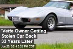 'Vette Owner Getting Stolen Car Back 33 Years Later