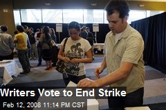 Writers Vote to End Strike
