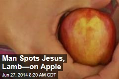 Man Spots Jesus, Lamb—on Apple