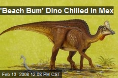 'Beach Bum' Dino Chilled in Mex