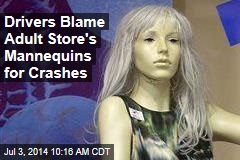 Gawking Drivers Blame Adult Store's Mannequins for Crashes