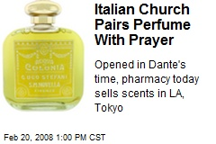 Italian Church Pairs Perfume With Prayer