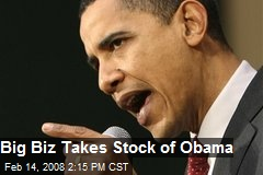 Big Biz Takes Stock of Obama