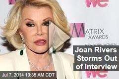 Joan Rivers Storms Out of Interview