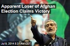Apparent Loser of Afghan Election Claims Victory