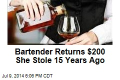 Bartender Returns $200 She Stole 15 Years Ago