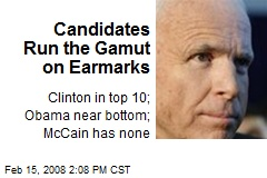 Candidates Run the Gamut on Earmarks